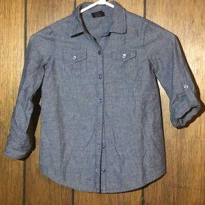 Faded Glory Size 6/6x denim button up shirt